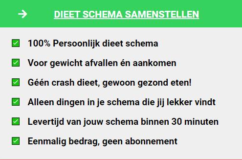 dieetschema 3